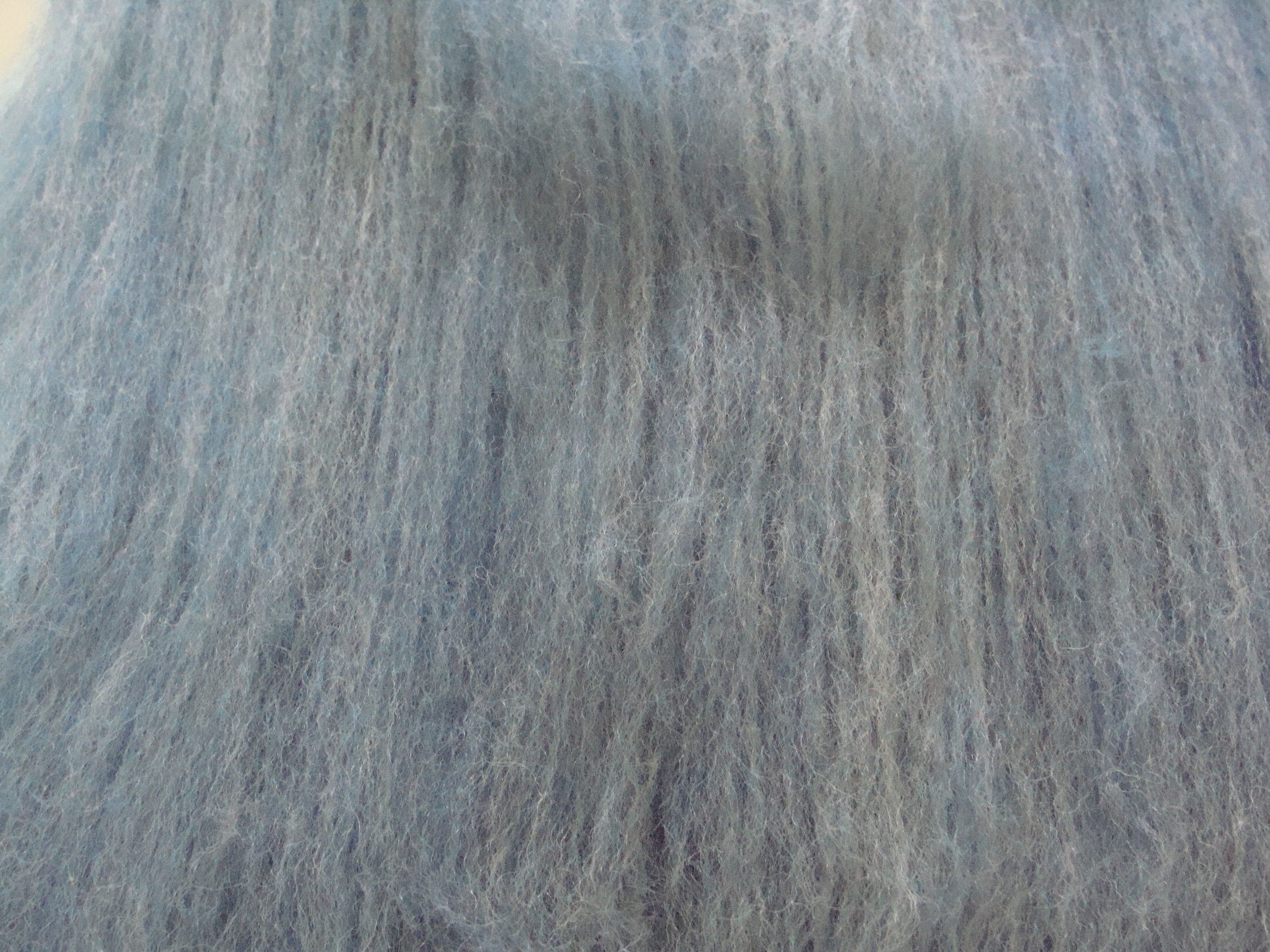 third blending of alpaca/merino on drum carder