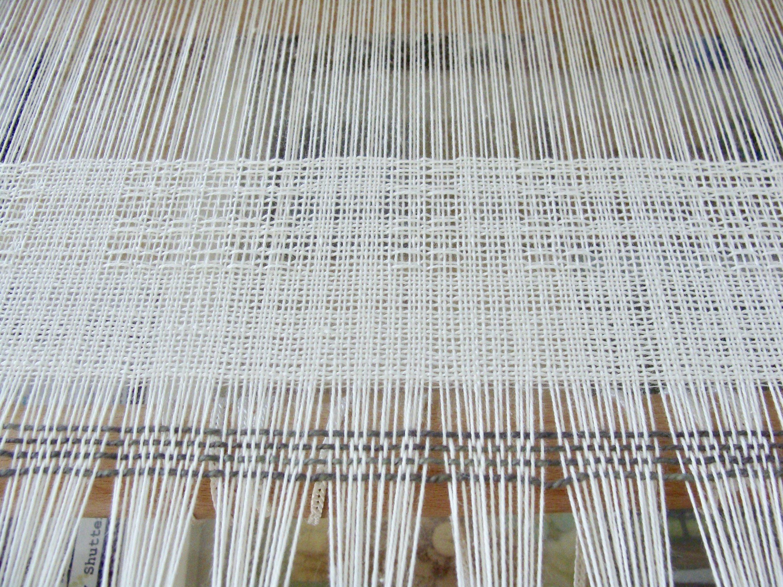 weaving Swedish Lace towels on Jane loom
