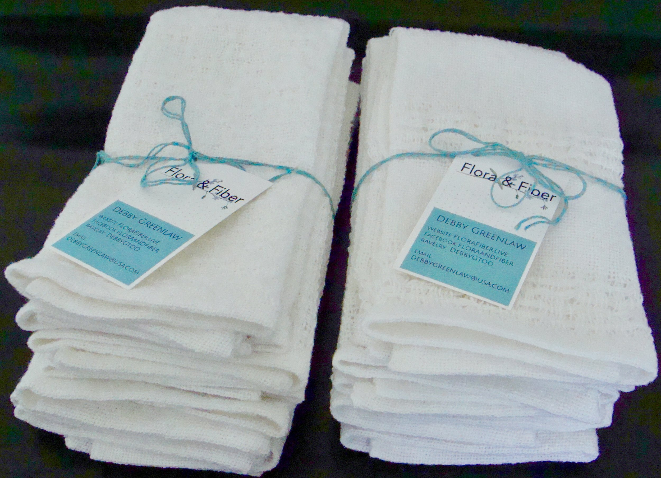 packaged handwoven cotton guest towels