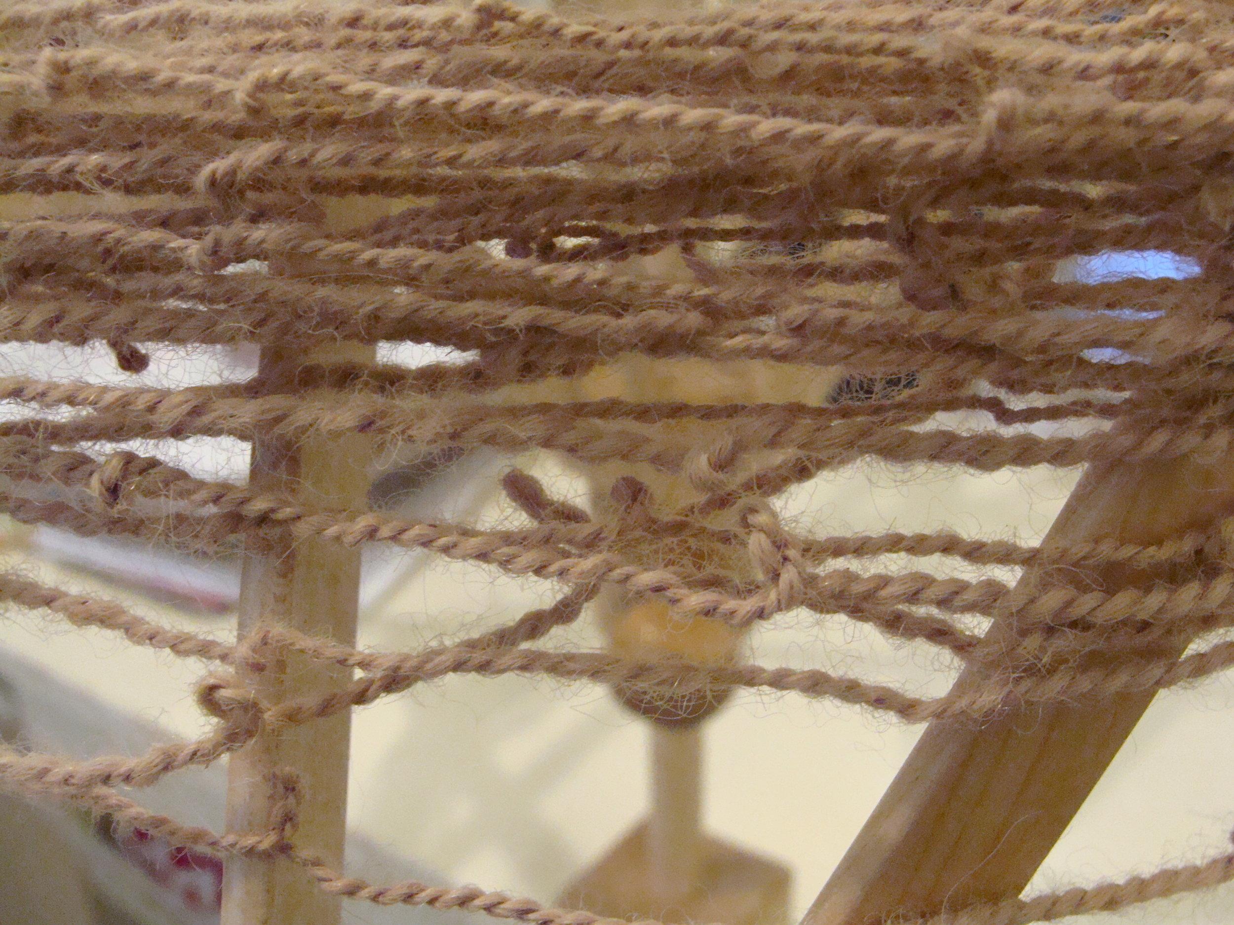 over twisted handspun alpaca yarn