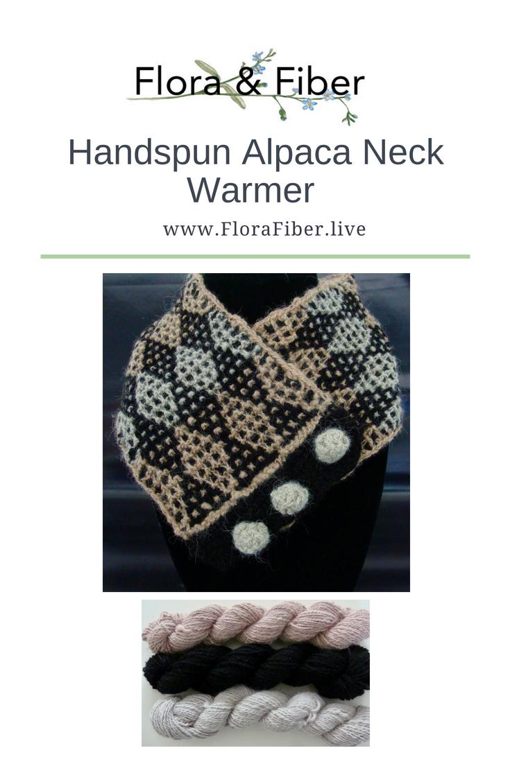 Handspun Alpaca Neck Warmer Pinnable