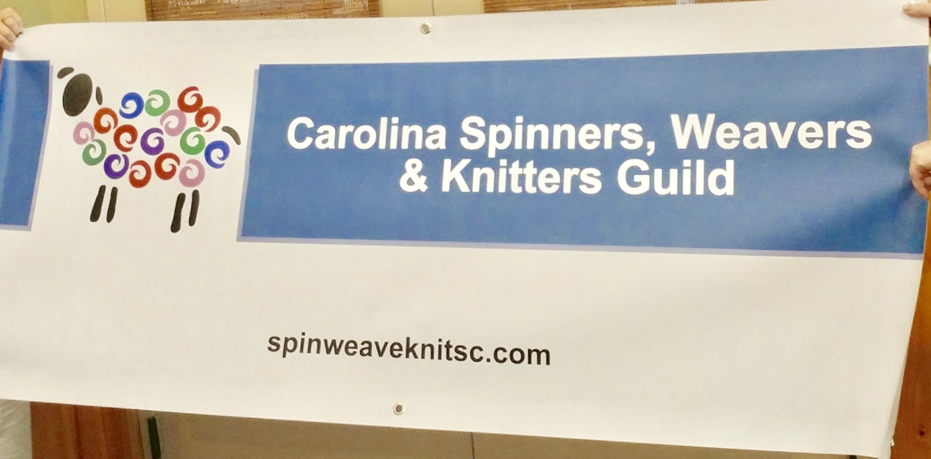 Carolina Spinners, Weavers & Knitters Guild Banner