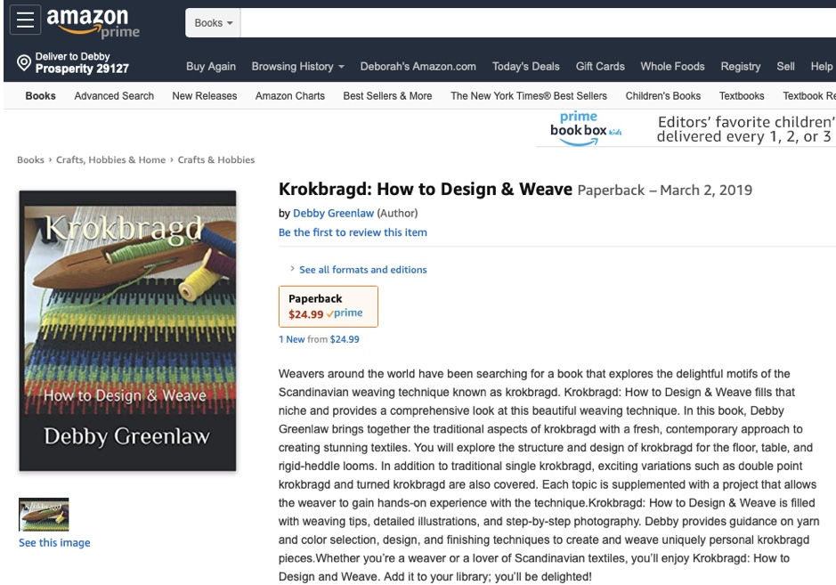 Purchase Krokbragd: How to Design & Weave