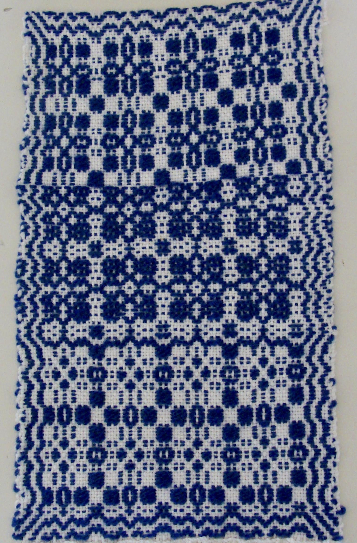 reverse woven overshot sampler