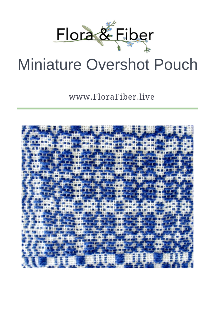 Miniature overshot pouch pinterest graphic
