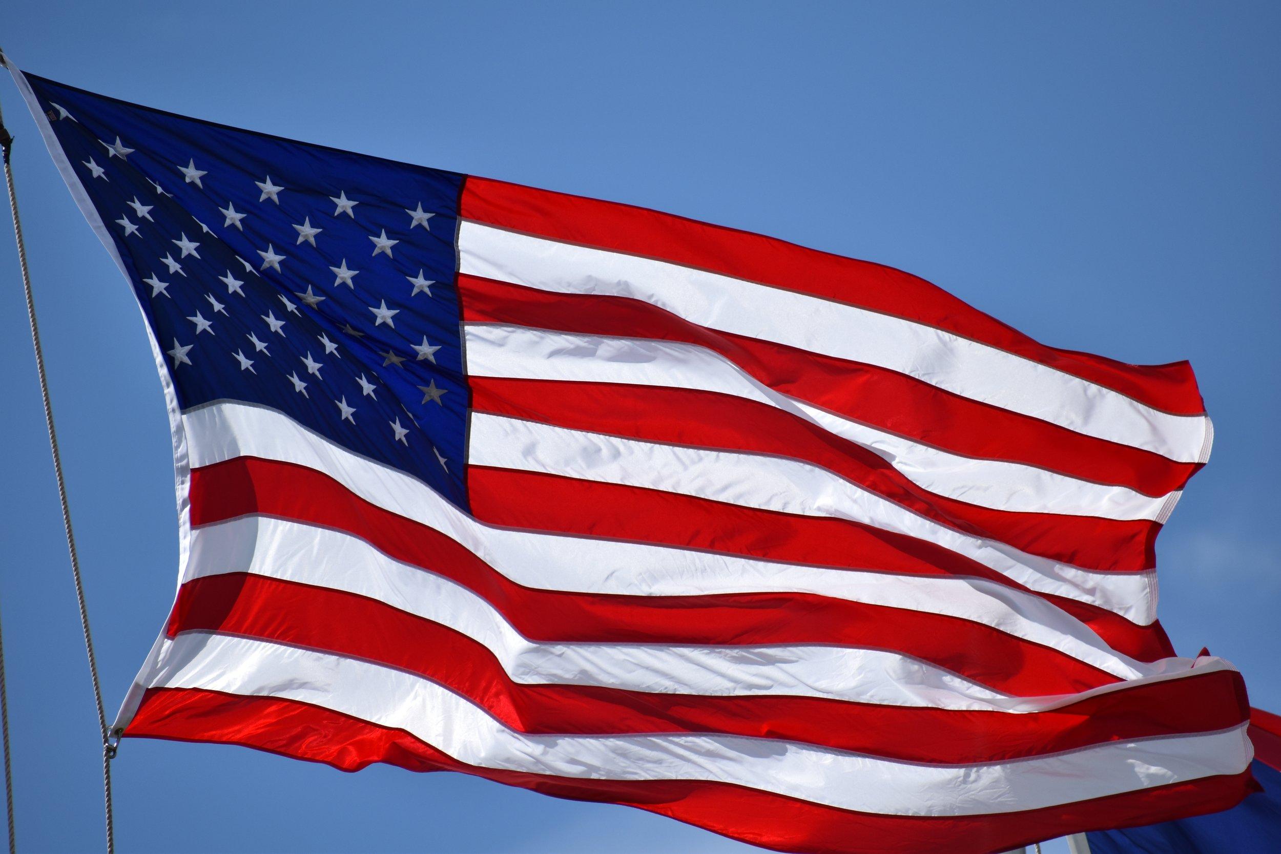 american flag from unsplash
