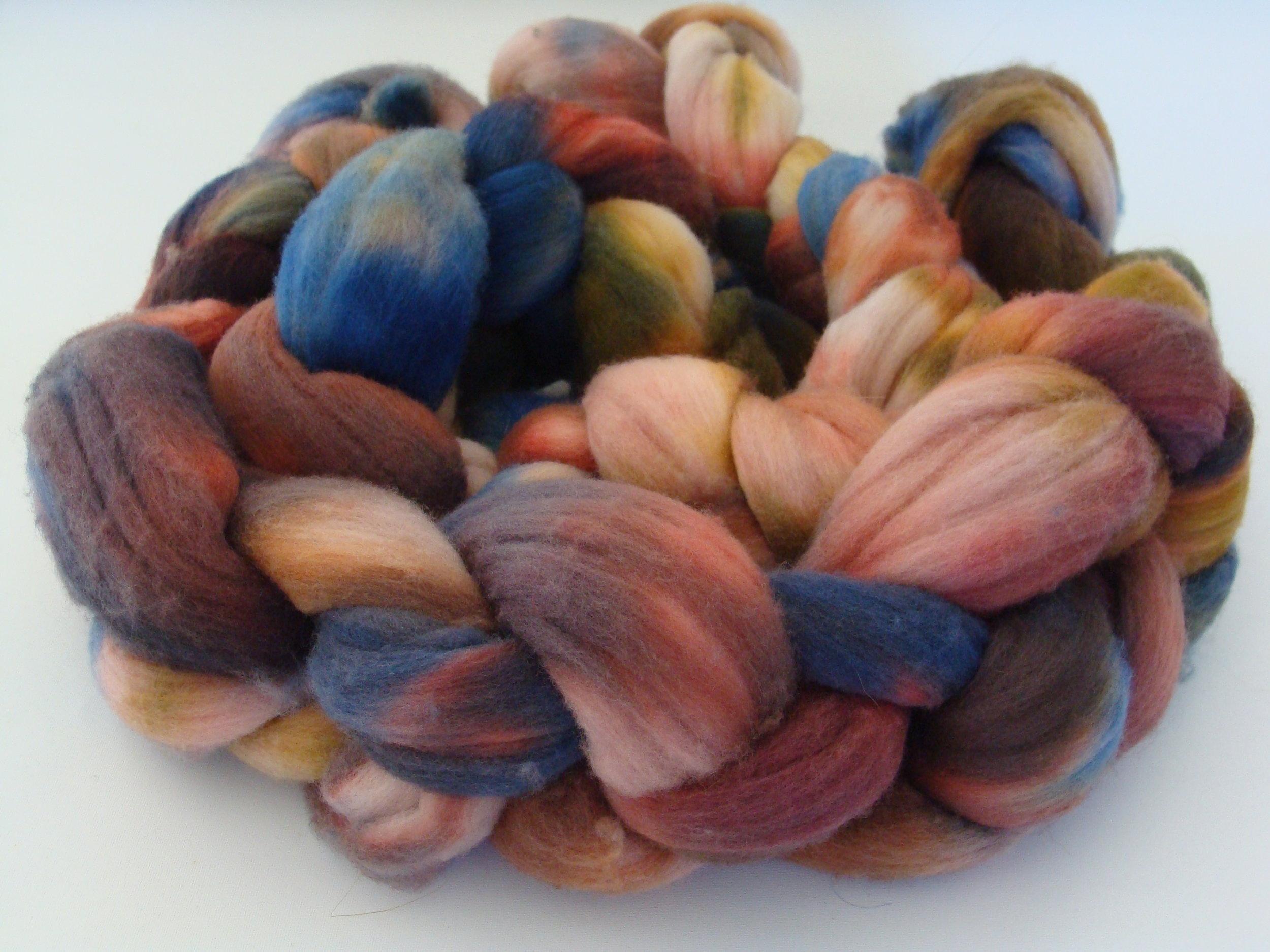 hand dyed merino roving