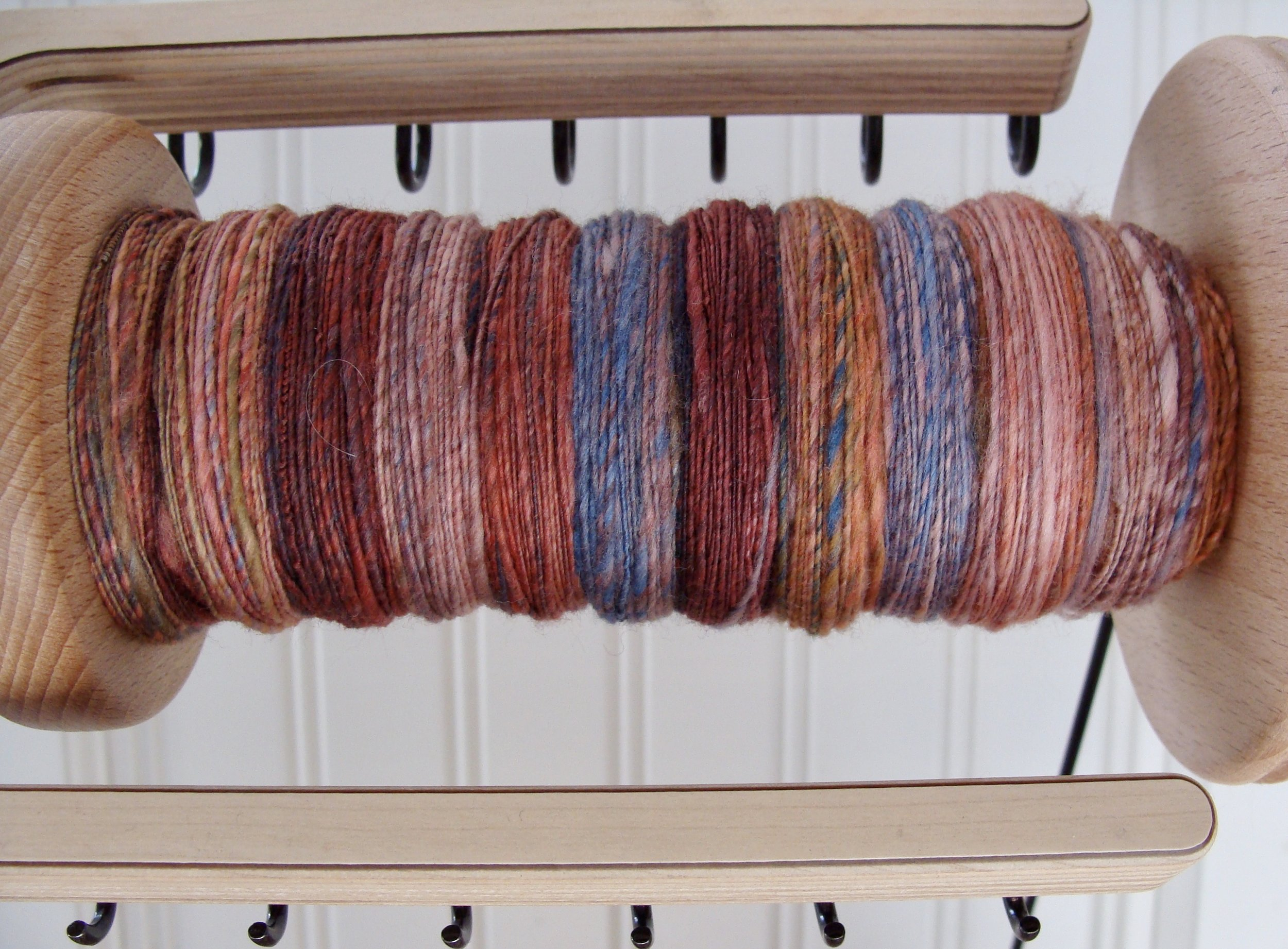 handspun handdyed merino yarn