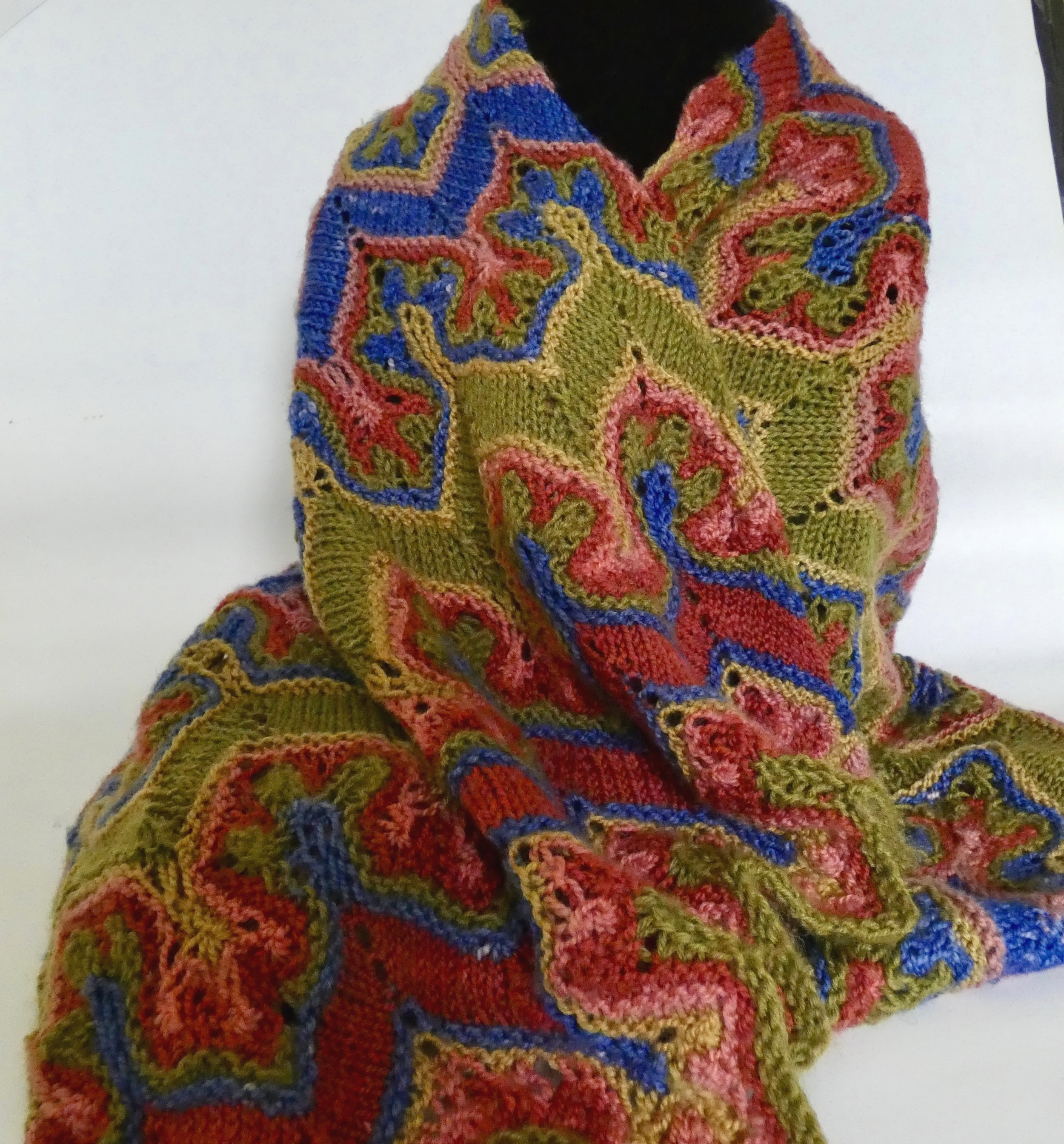 Fox+Paws+shawl