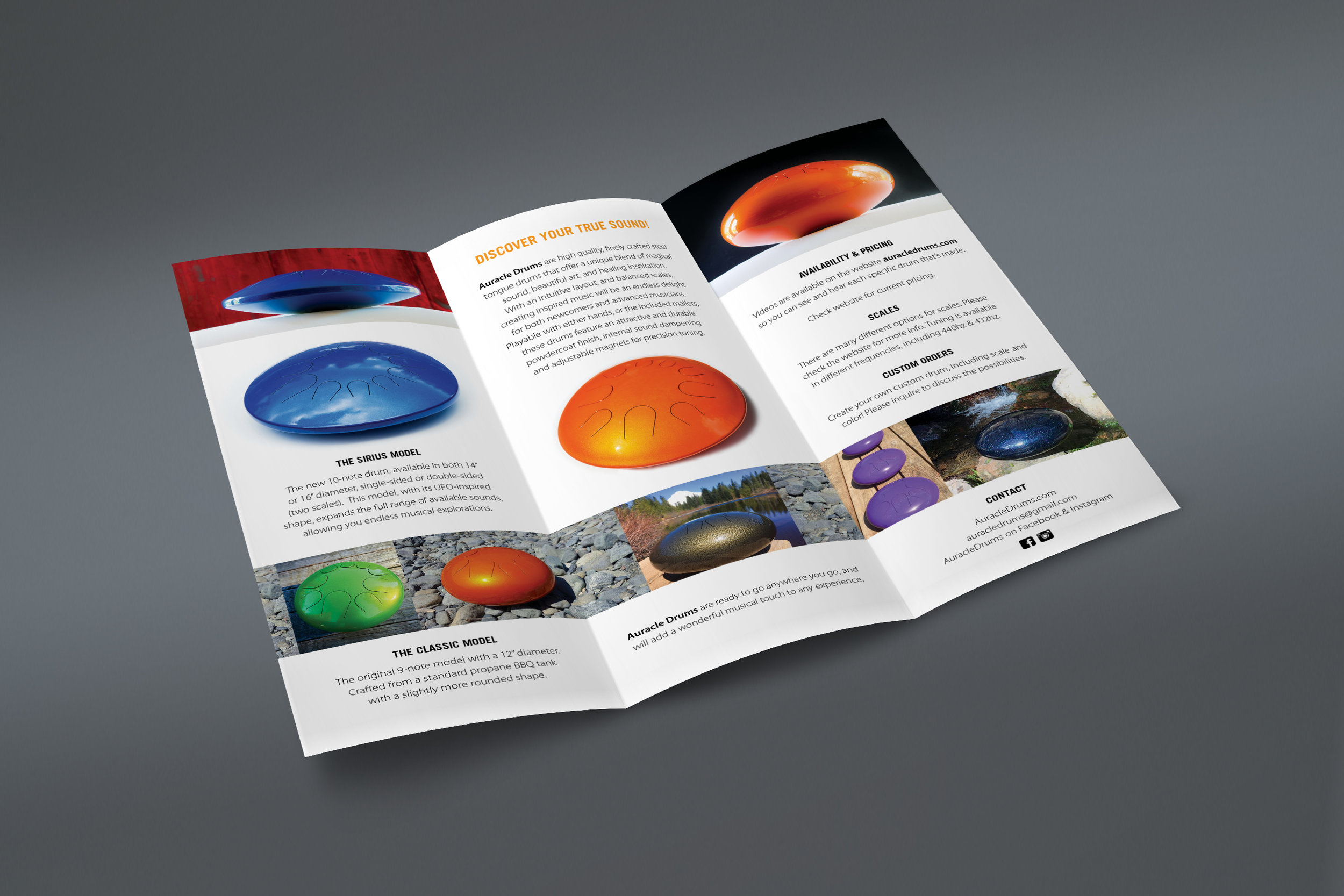 promotional Brochure design and principle product photography