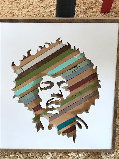 Awesome Jimi Hendrix portrait for my hubby by  Black Lab Fabrication
