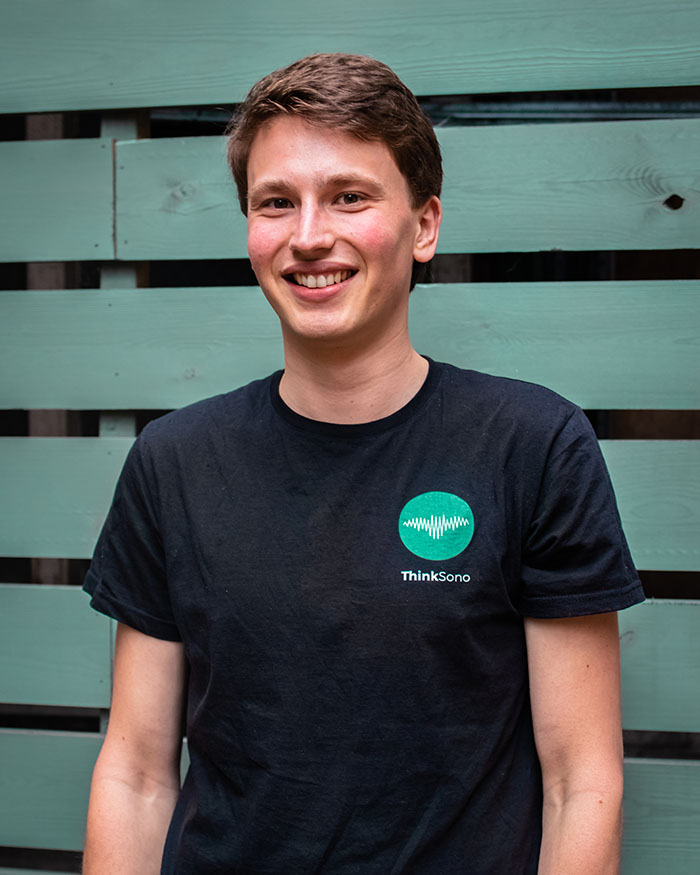 Jonas Oppenheimer - Lead Medical Analyst   Jonas is a 3rd year medical student at the Charité university Berlin. At ThinkSono he is supervising and reviewing the data labeling process working with 10+ people annotating medical data.