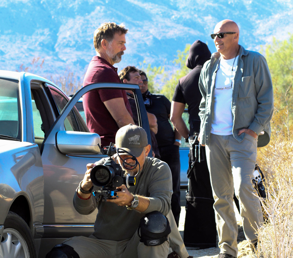 "On location with John Schneider for the feature film ""Emerald Run"" currently in production.   Photo by David Chavarria."