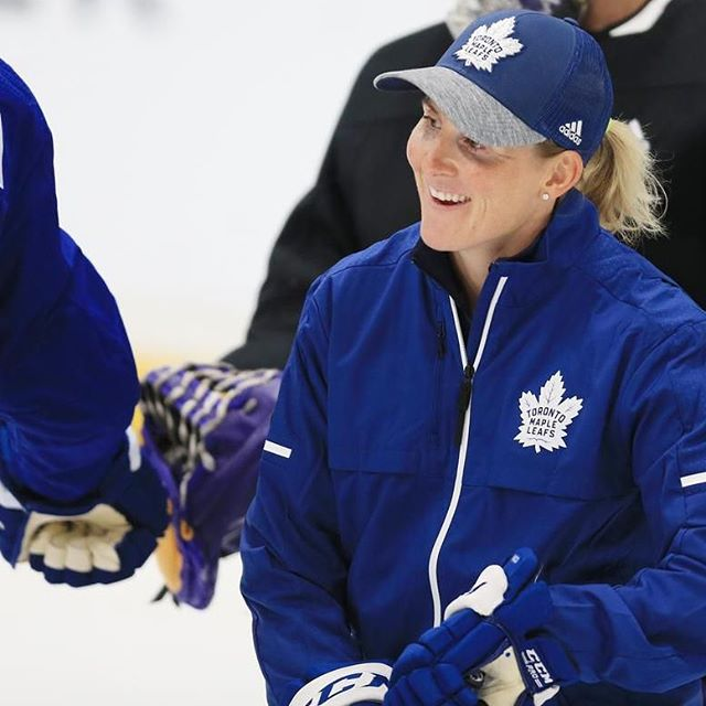 Today is International Day of the Girl. We recognize Haley Wickenheiser, Assistant Director of Player Development @mapleleafs 👩🏼💪🏼.. •• ✨Four-time Olympic gold medallist ✨Was the leading scorer for 🇨🇦women's national team.. ✨Studying medicine at University of Calgary.. • • • We support @mlselaunchpad because one of their goals is to keep girls in sport. Which means keeping girls active, engaged and healthy.  Thank you for empowering girls to develop their skills, on equal terms and help them reach their full potential. It's really cool to see women in sport, women in trade and really in any role they want to be.  #internationaldayofthegirl #ChangeTheGame #Leafs #tmltalk #dayofthegirl #goleafsgo