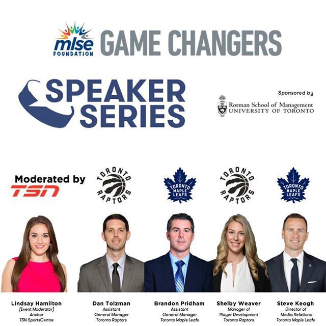 Join us for our Annual Speaker Series on Thursday, November 8th at Rotman School of Management featuring knowledgeable panelists discussing current trends in the sports industry. 💬 • • • If you've already joined and raised $50 towards @mlsefoundation - your ticket is FREE! ✔️ • • • Tickets can be purchased online - link in bio. This is a great networking opportunity - so don't wait too long, last year we sold out!. • • • Any questions feel free to send us a DM! All proceeds go to @mlsefoundation ✅  Look forward to seeing you on November 8th!  #ChangeTheGame #TorontoSports #Leafs #Raptors #MLSE #TSN
