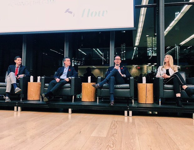 Thank you for coming out to our second annual Speaker Series event @rotmanschool 👏🏽👏🏽👏🏽. . . Young professionals received industry insights from @mapleleafs & @raptors personnel - moderated by the lovely @hamiltonlindsay of @tsn_official 🙋🏻‍♀️🙌🏽 . . Thank you to our panelists: 🔹Dan Tolzman - Assistant  GM @raptors. 🔹Brandon Pridham - Assistant GM @mapleleafs. 🔹Shelby Weaver - Manager of Player Development @raptors. 🔹Steve Keogh - Director of Media Relations @mapleleafs. . . Big thanks to our wonderful sponsors: 🧦@babsocks 🍻@lostcraftbeer 💧@flow 💼 @rotmanschool. . . #Changethegame