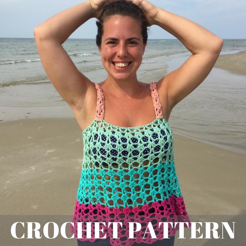 Cape Cod Color Block Tank - Crochet Pattern Product Cover Image.jpg