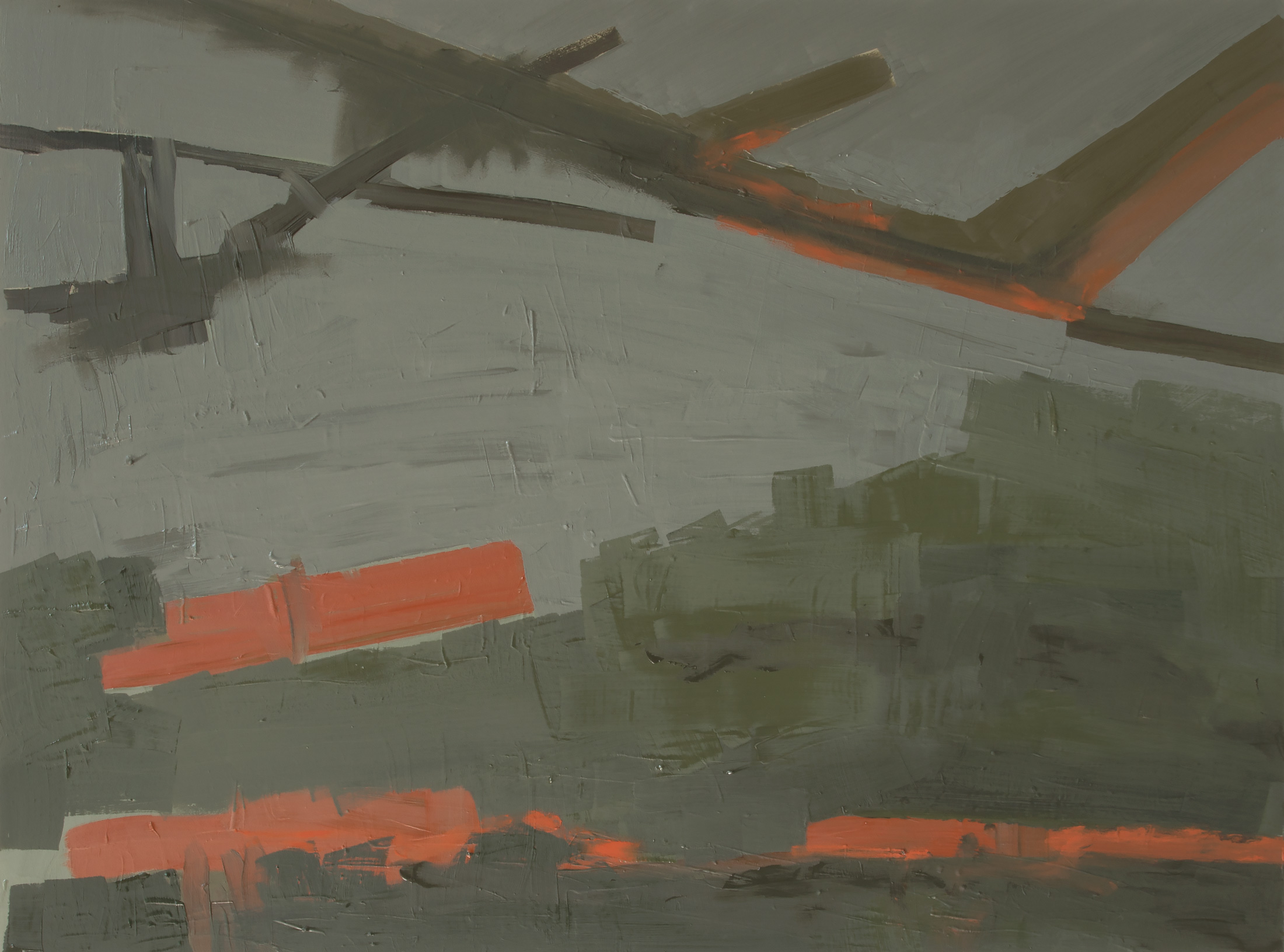 Airfield AF-17-01 , Oil on panel, 2017, 18 x 24 inches (45.7 x 60.9 cm)