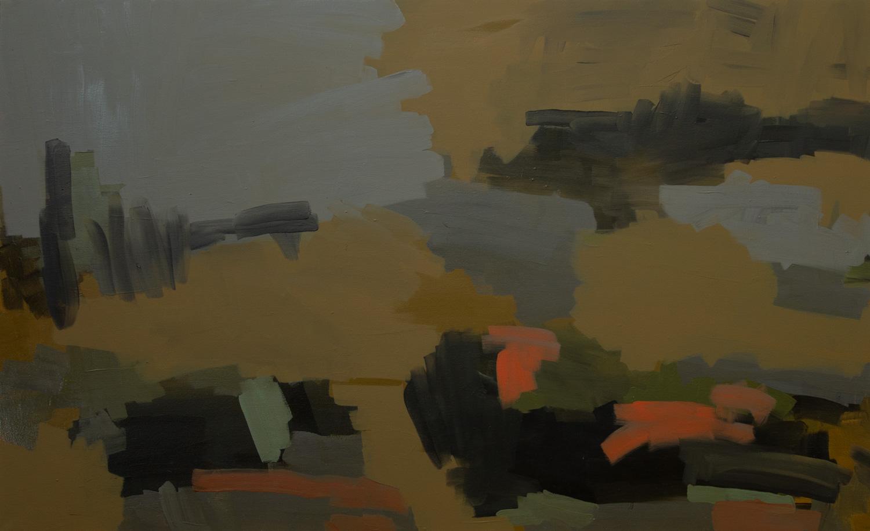 War Field WF-18-02, 2018, Oil on canvas, 32 x 52 in, 81.2 x 132 cm
