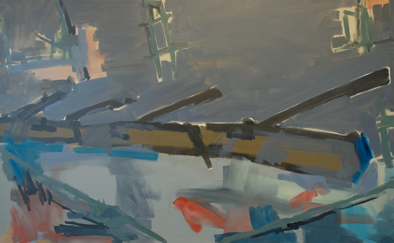 Tanks TK-18-17, 2018, Oil on canvas, 32 x 52 in, 81.2 x 132 cm