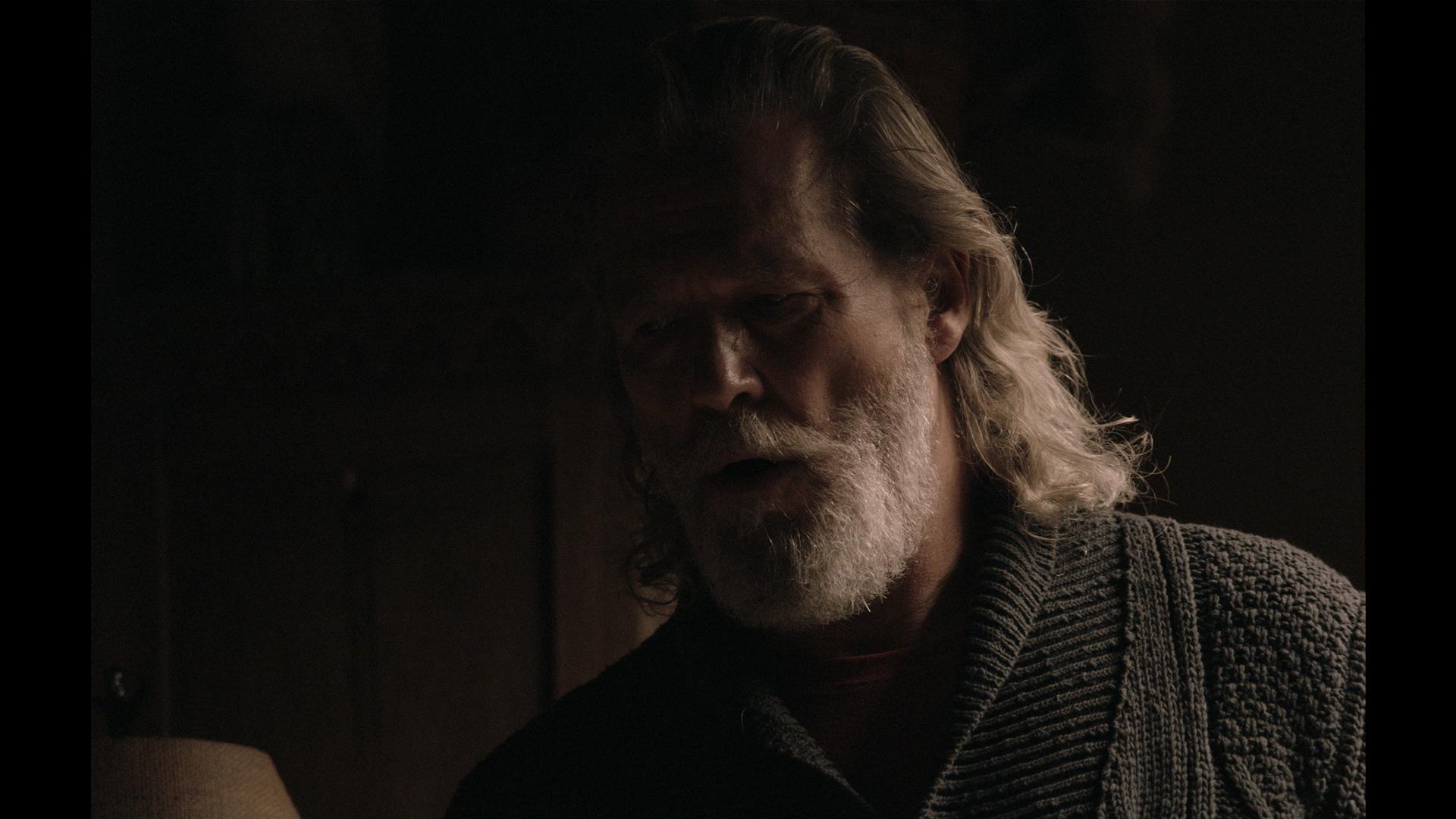 Jeff Bridges lit solely by an early prototype,