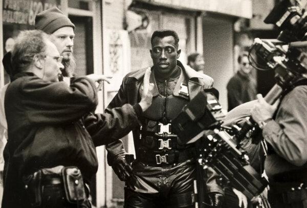Theo Van De Sande ASC on the set of    Blade