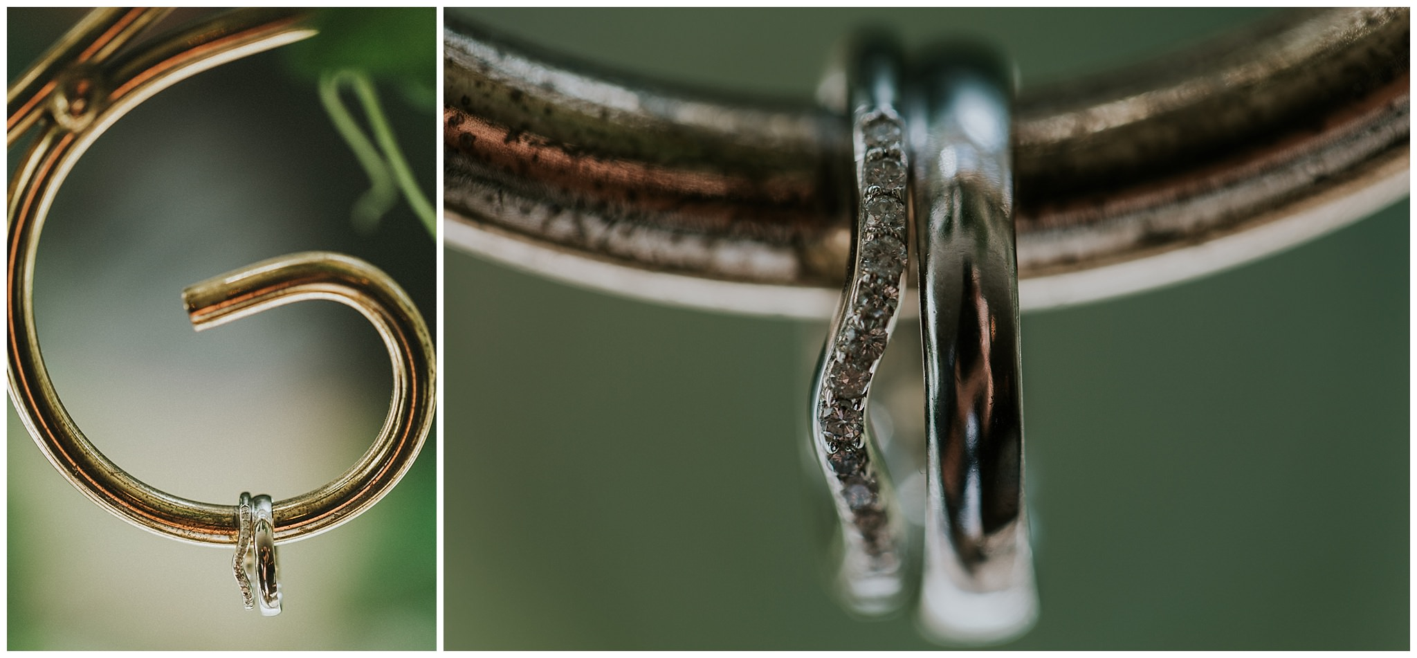 detail shots of wedding ring