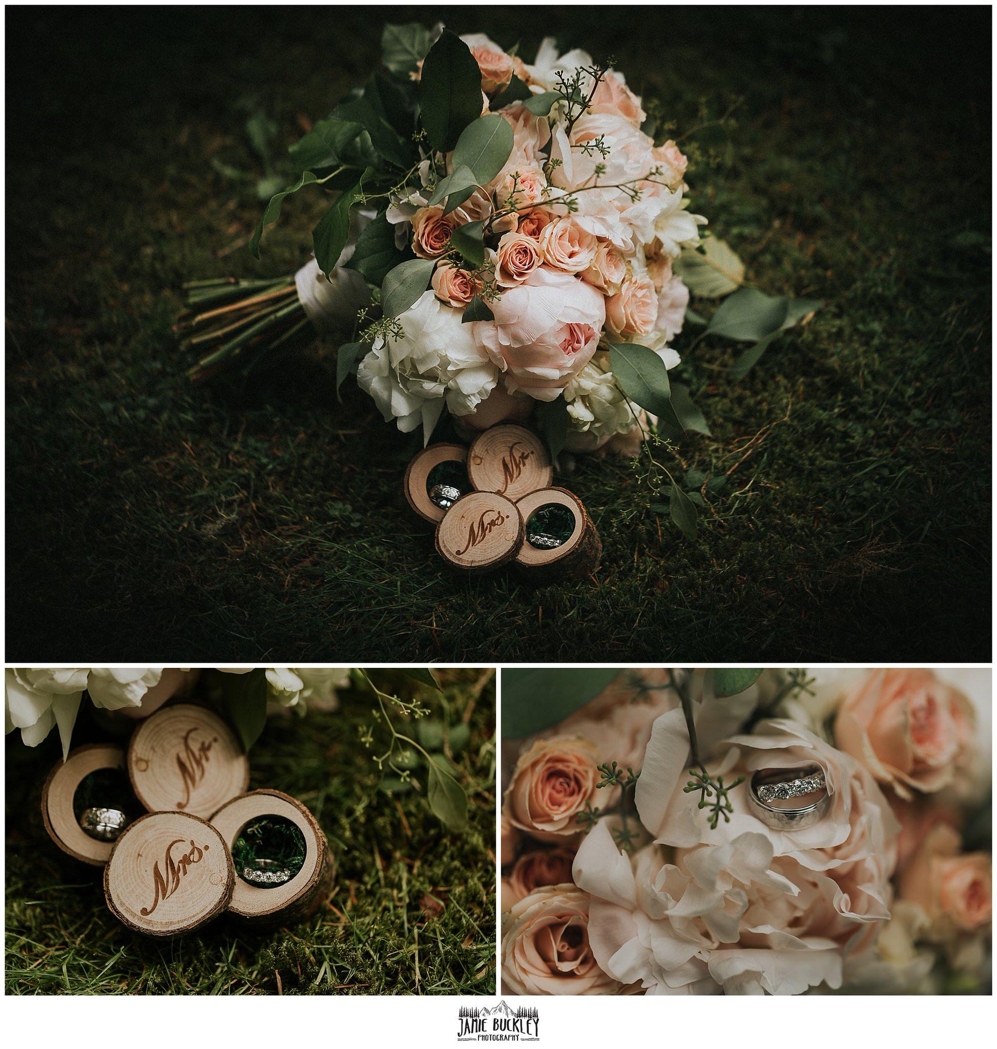 wedding bouquet detail shots