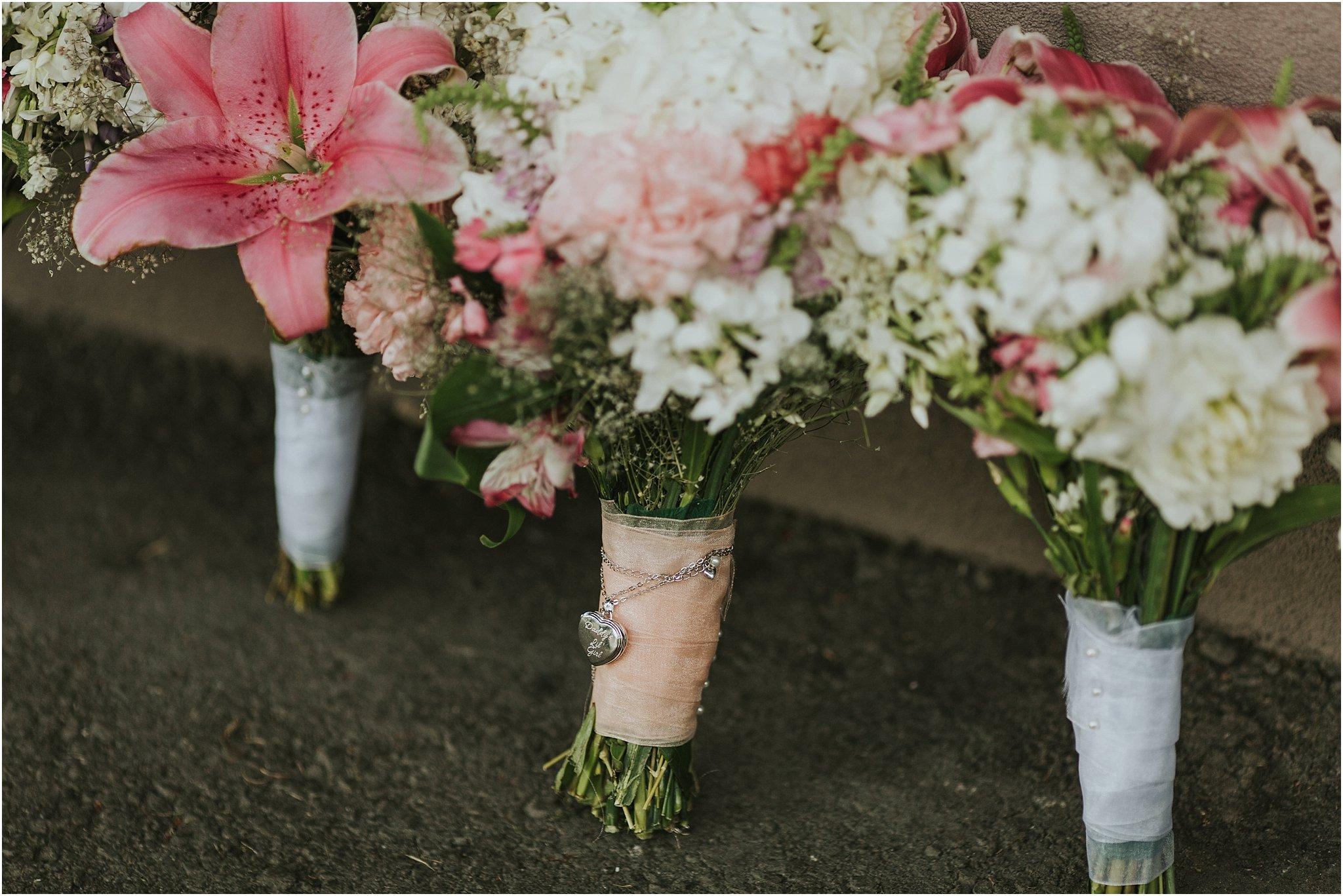 brides bouquet detail shot