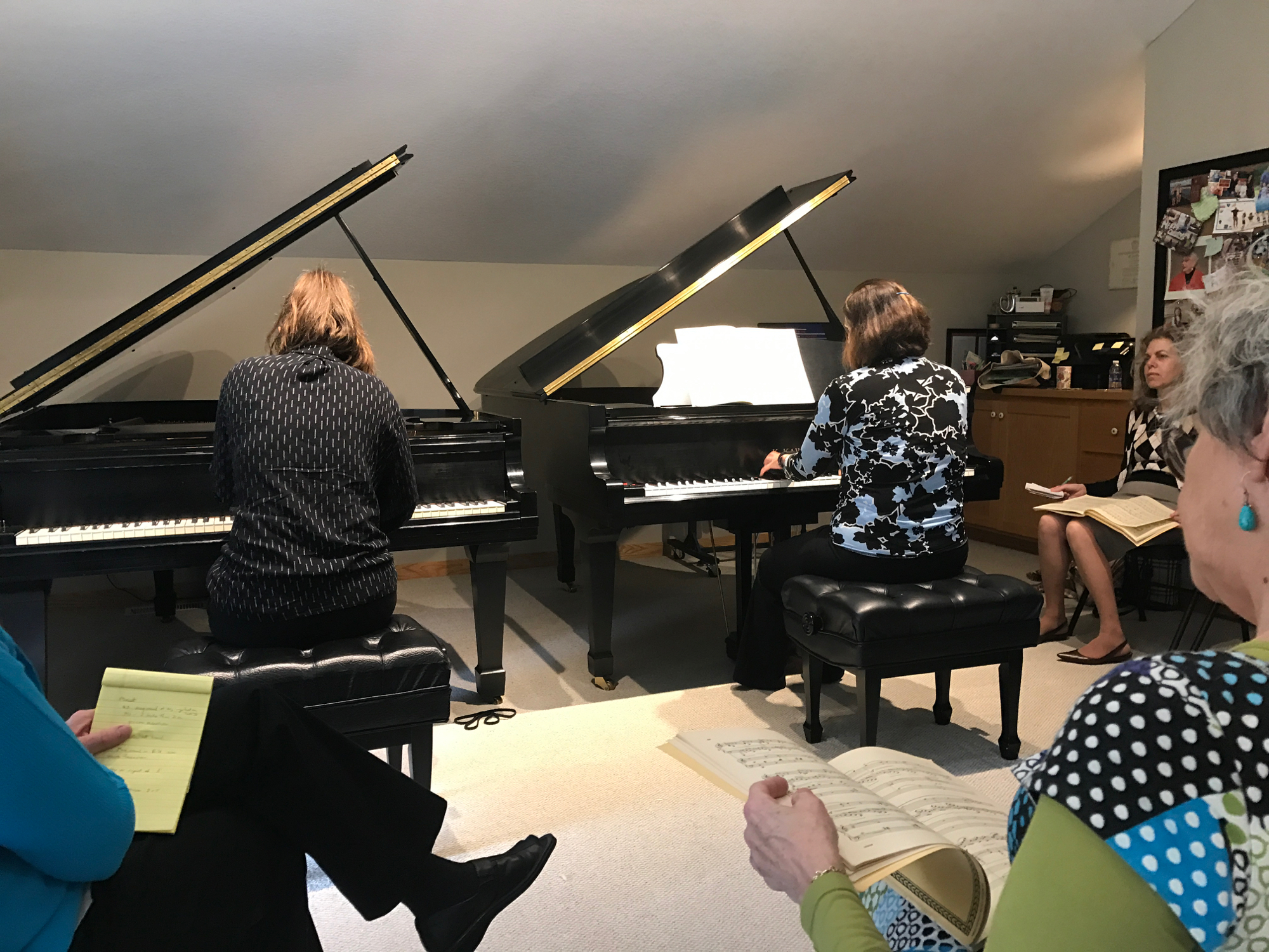 Beatrice and Maria playing the Schumann A Minor for Sondra