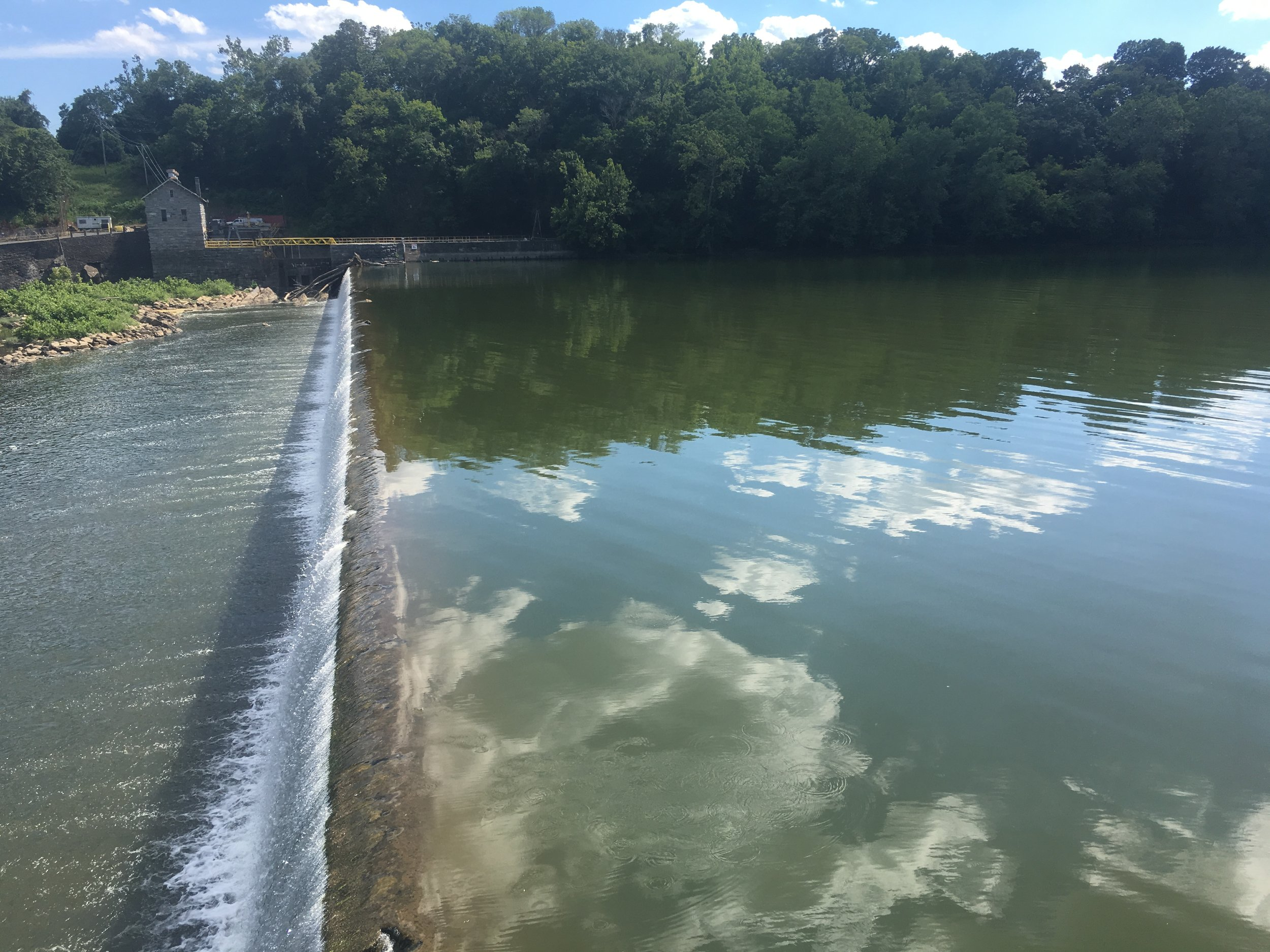 One of the many dams along the C&O Canal