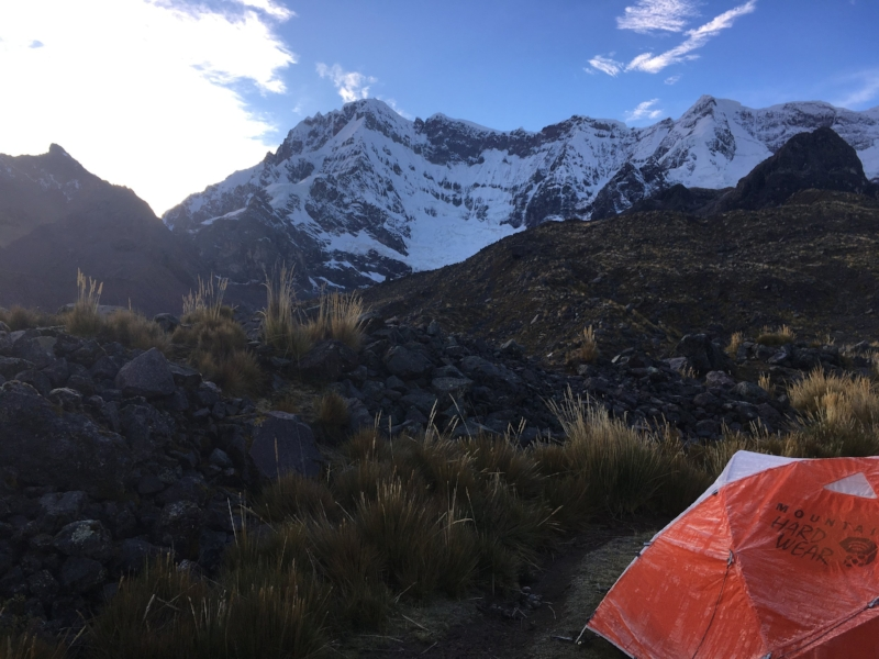 View of Ausangate from camp