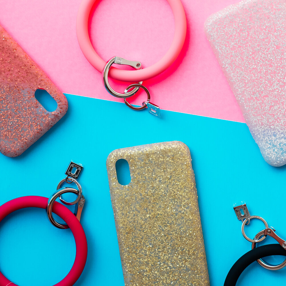 """"""" Stay accessorized on-the-go! Shop new silicon phone cases & @shopoventure in stores!✨💖 """""""