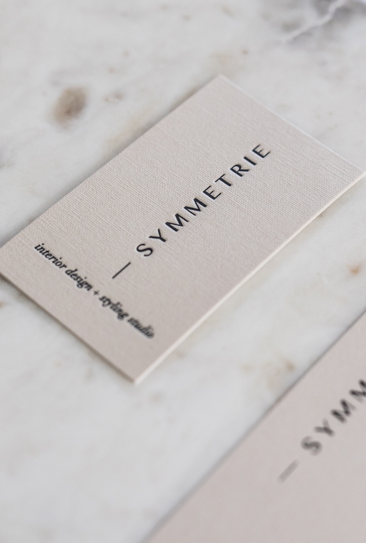 Symmetrie - ~Brand Identity ~logo, business cards, thank you cards