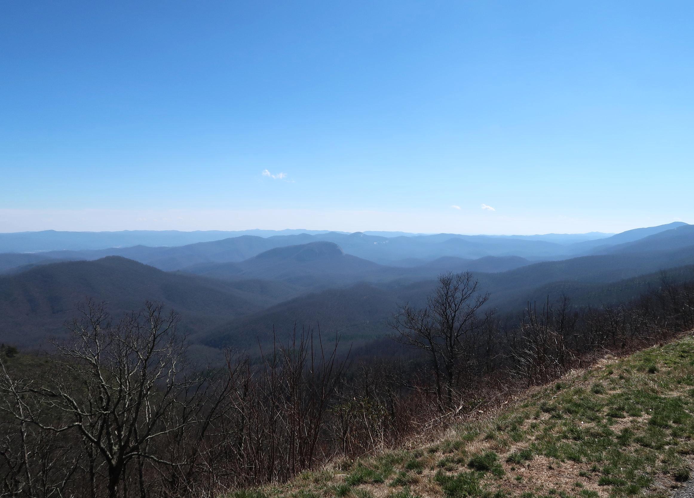 The beautiful Blue Ridge hues