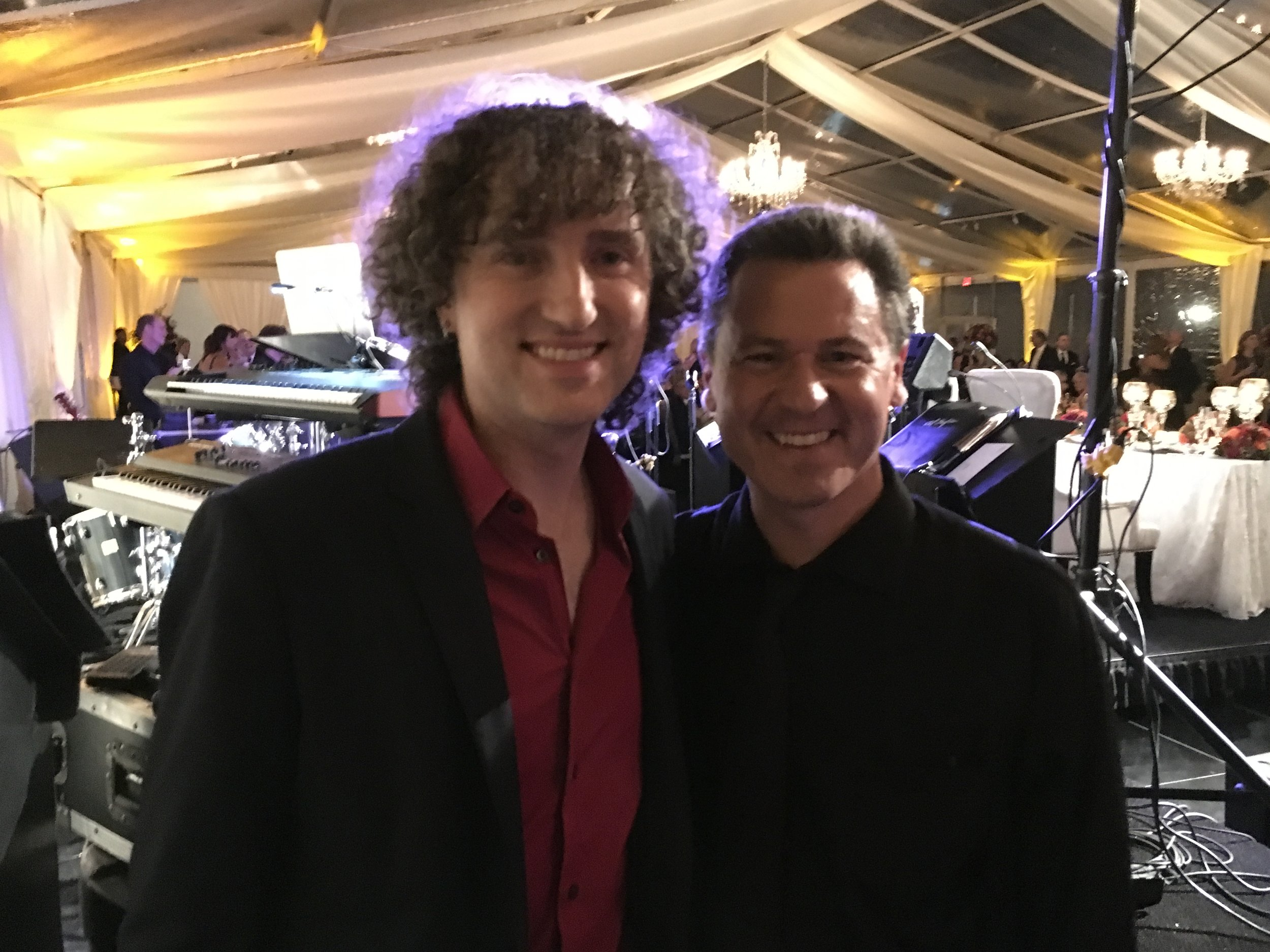 With Jo Dee Messina's keyboard player, November 2016