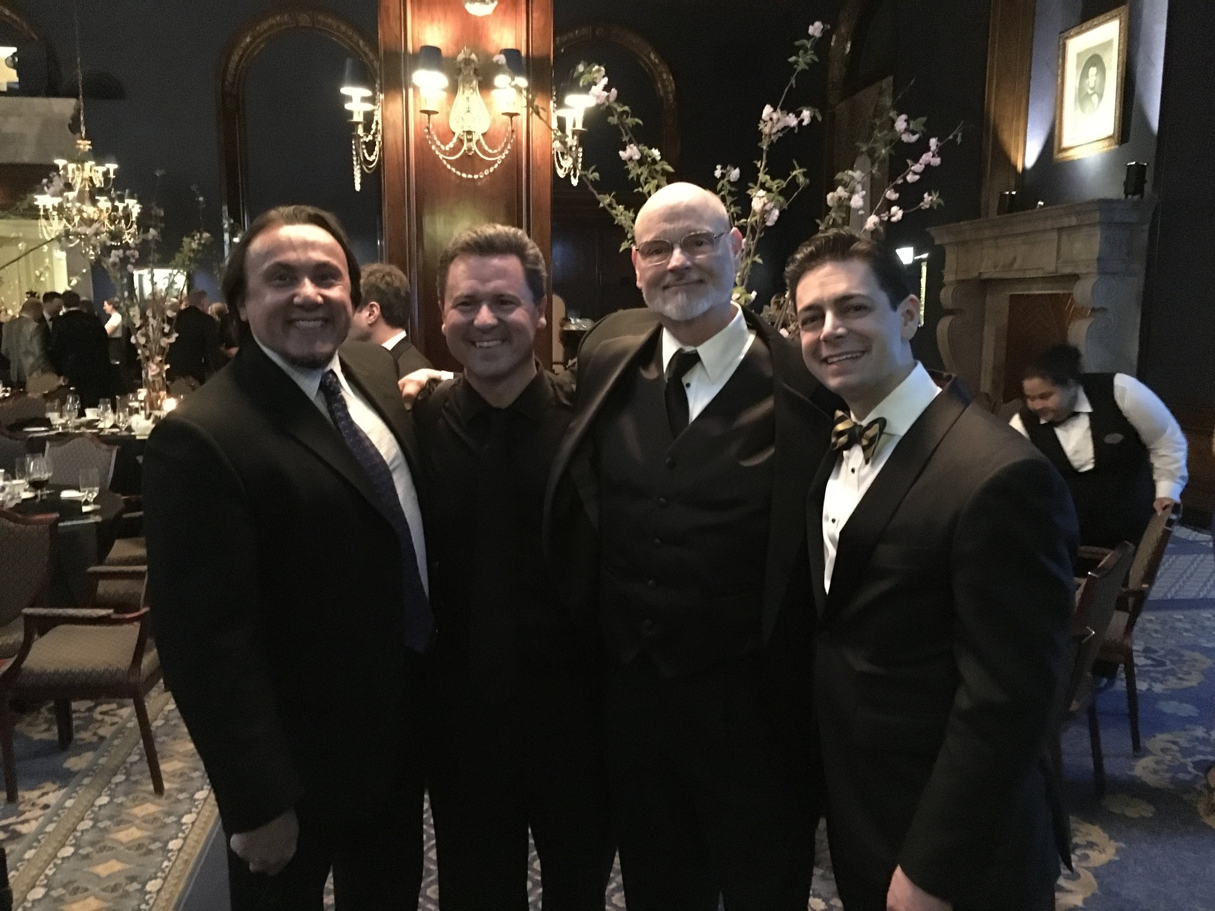 Joined by Michael Rivera, Carl Lawrenz, and Frank Devincentis at the Union League Club's Luminarts Gala in Chicago, IL