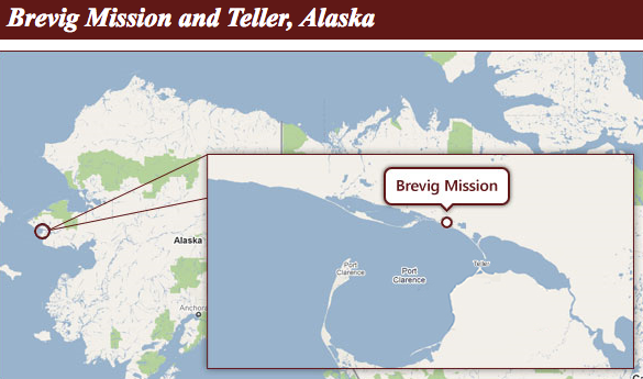 Brevig Mission is an Inupiaq Eskimo village of about 350 residents. It is located 65 miles northwest of Nome and 5 miles northwest of Teller at the mouth of Shelman Creek on Port Clarence. From: http://www.nature.com/nm/journal/v5/n4/full/nm0499_384.html