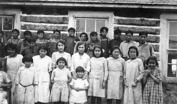 Boarding school students at St. Mark's Episcopal Mission, Nenana, Alaska 1924