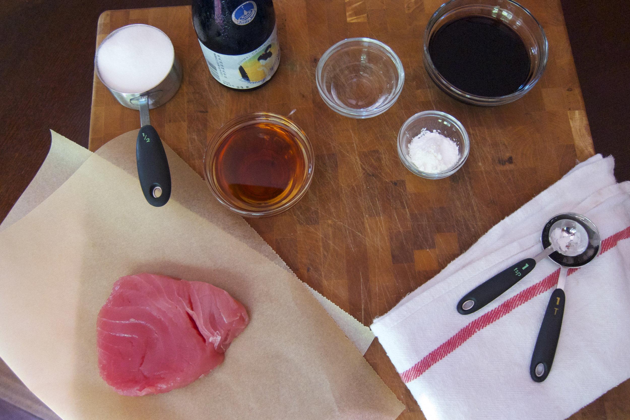Ingredients for Ahi Burgers