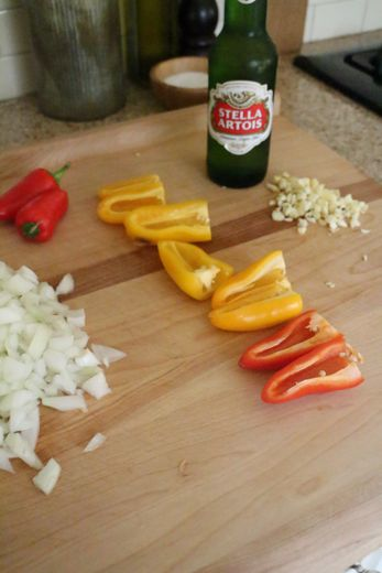 A beer while cooking. Freedom.