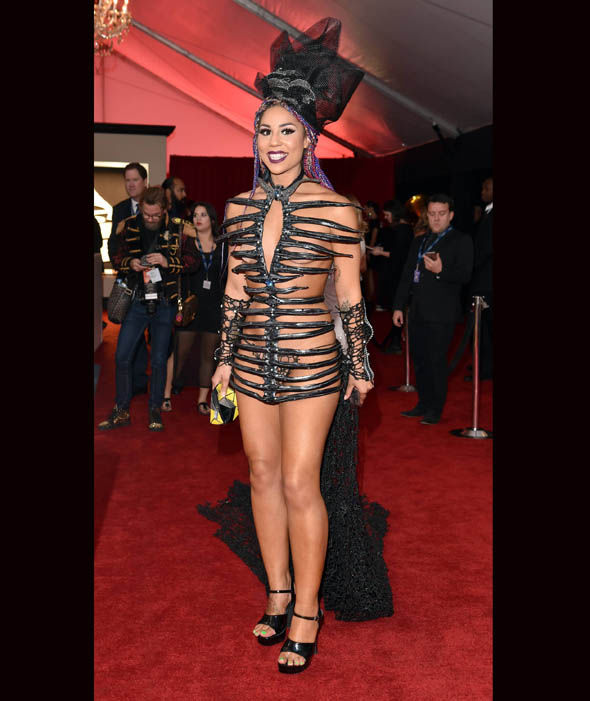 http://www.express.co.uk/pictures/galleries/4804/best-and-worst-dressed-58th-annual-grammys-2016-cbs-in-pictures/Recording-artist-Joy-Villa-attends-The-58th-GRAMMY-Awards-at-Staples-Center-107419