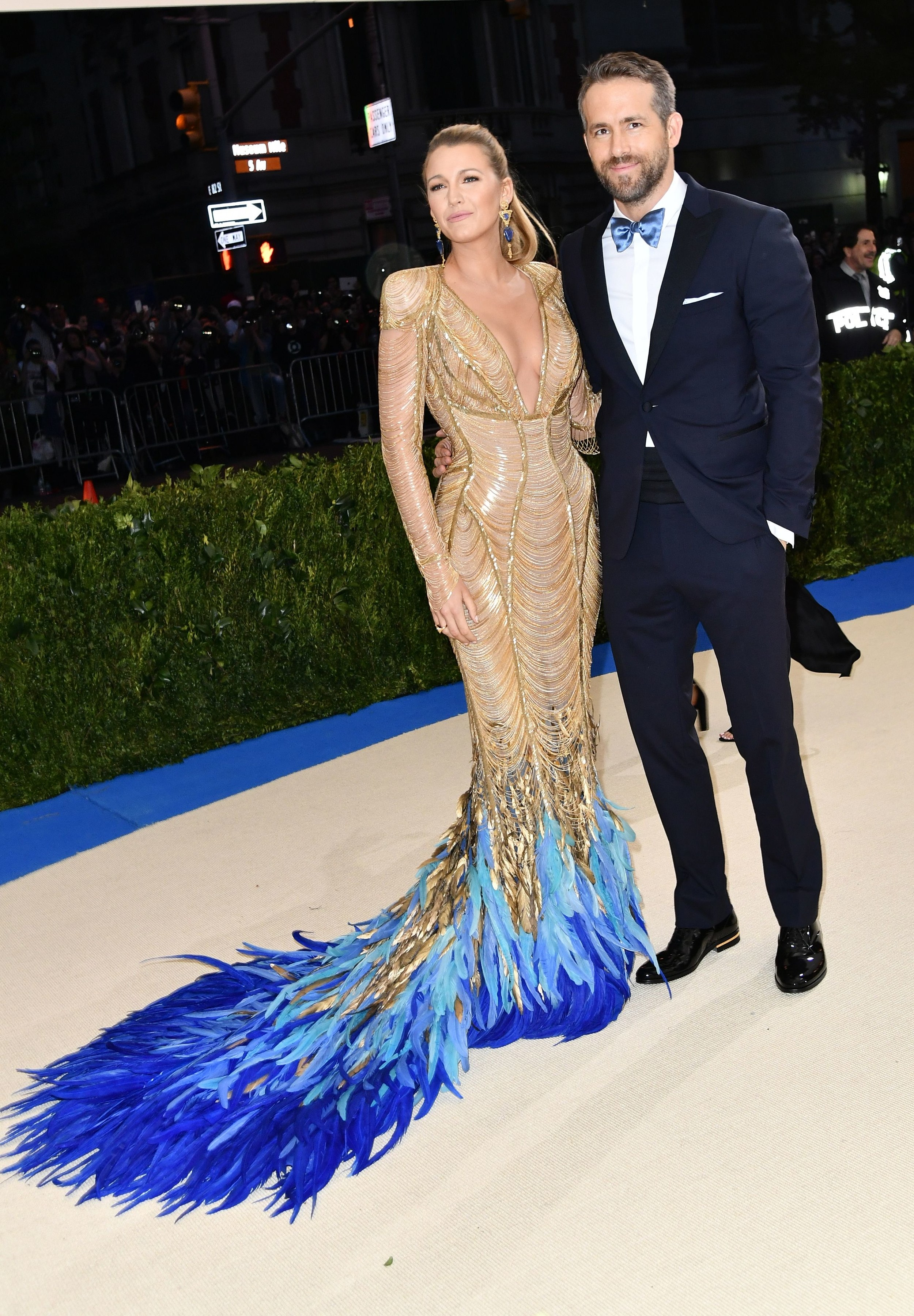 Blake Lively in Lorraine Schwartz jewelry and Ryan Reynolds