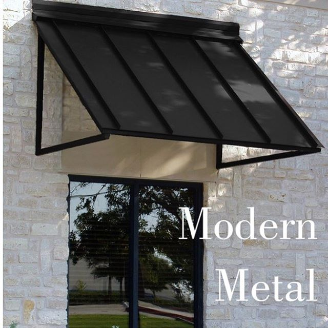 IN: Modern Metal awnings with updated brick exterior. Pro tip: if you have vinyl siding, try a different awning color in the same style as pictured, such as light grey! . . . #home #updates #tips #remodel #instyle #wayfair #resale #realestate #renovation #exterior #style #brick #siding #uodate #house #forsale #minneapolis #stpaul #minnesota #realtor