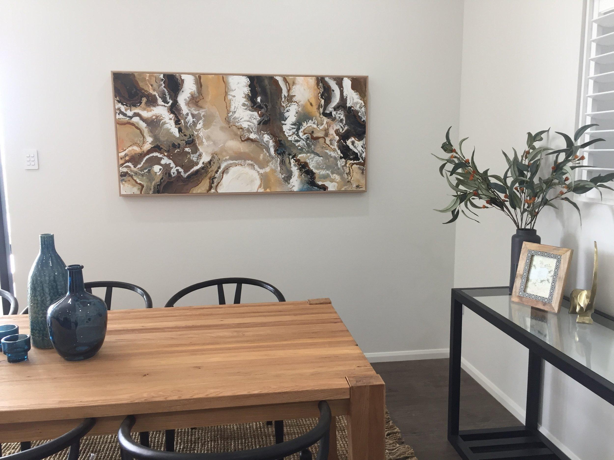 Custom Artwork for Martin Locke Display Home