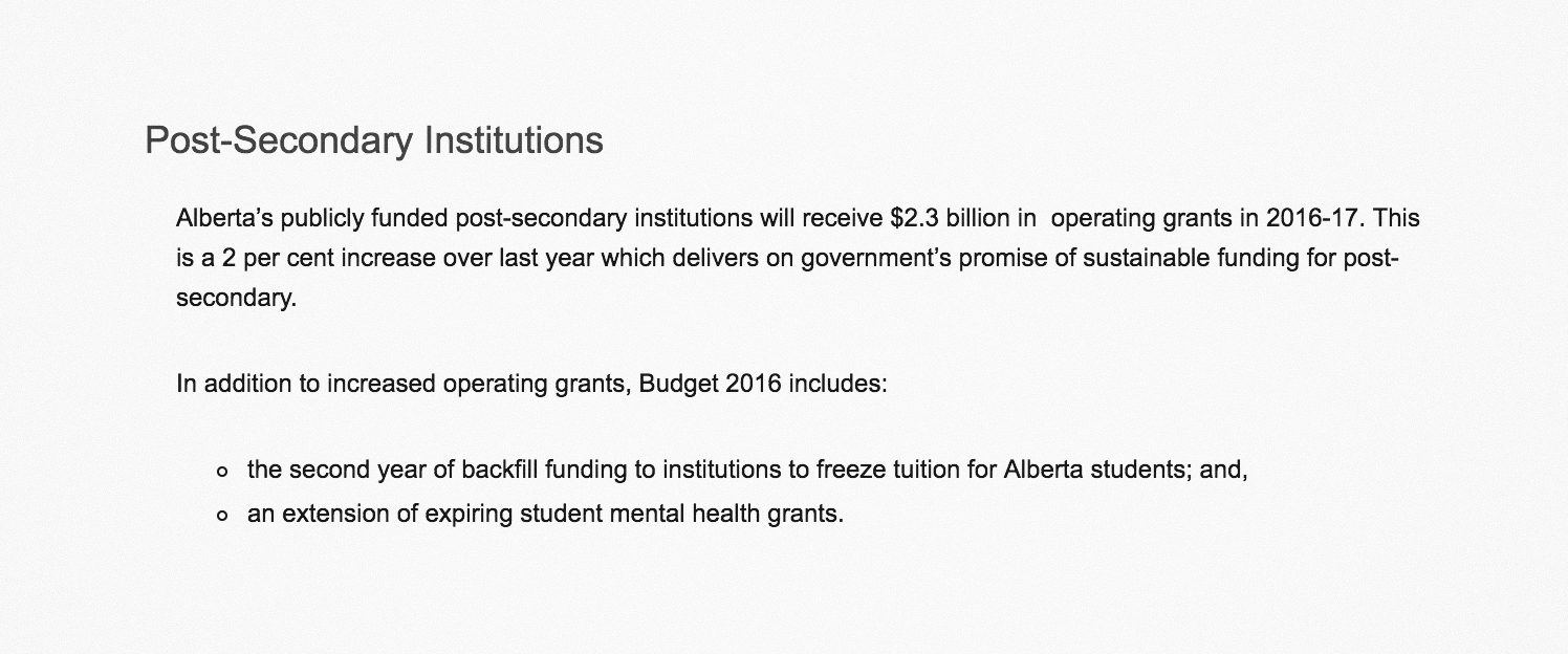 Budget 2016  background document .