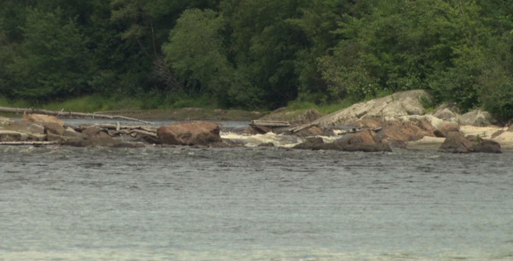 A photo of the rapids - Credit: CBC