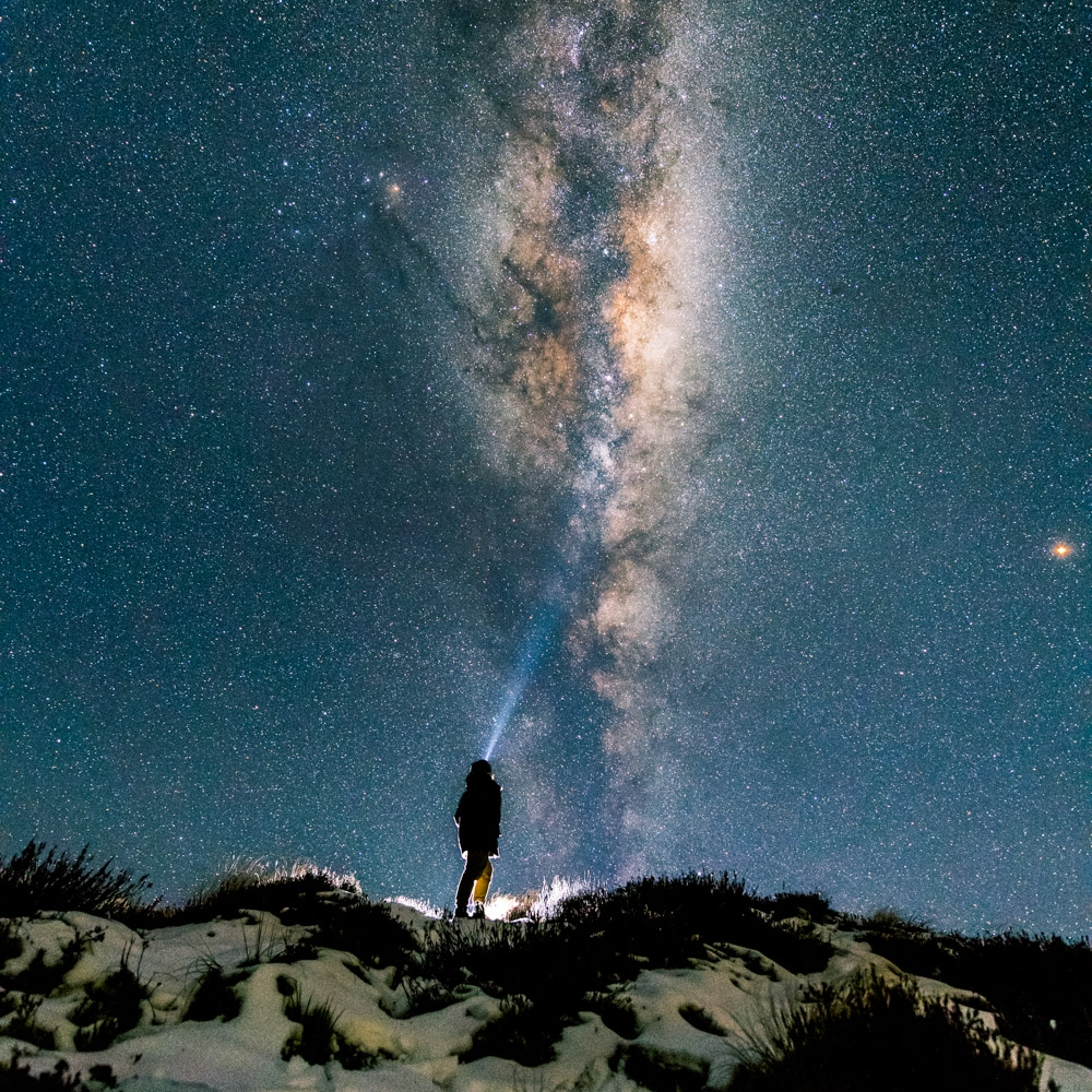 Standing under the Milky Way