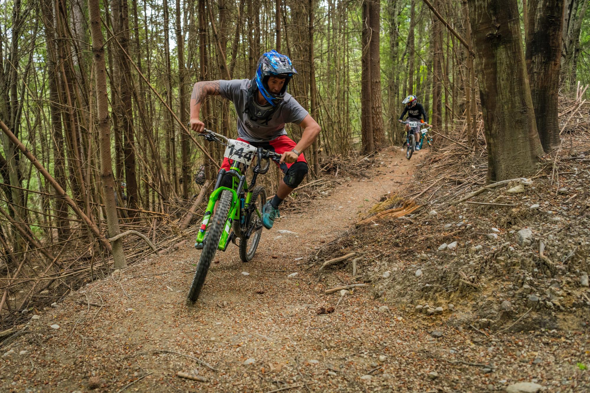 Hand built uphill mtb trail