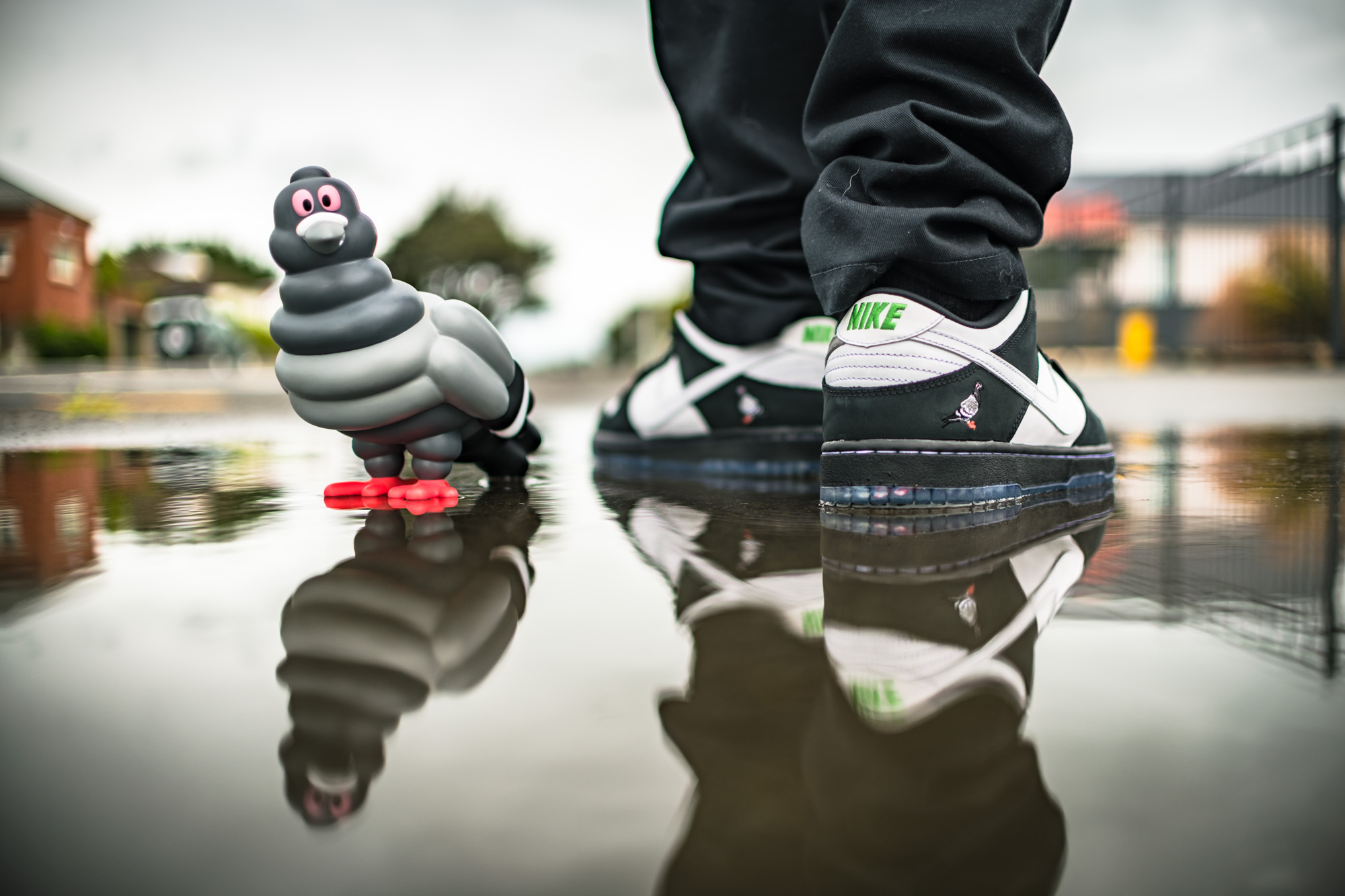 Nike SB Staple Panda Pigeon + Kid Robot Staple Pigeon